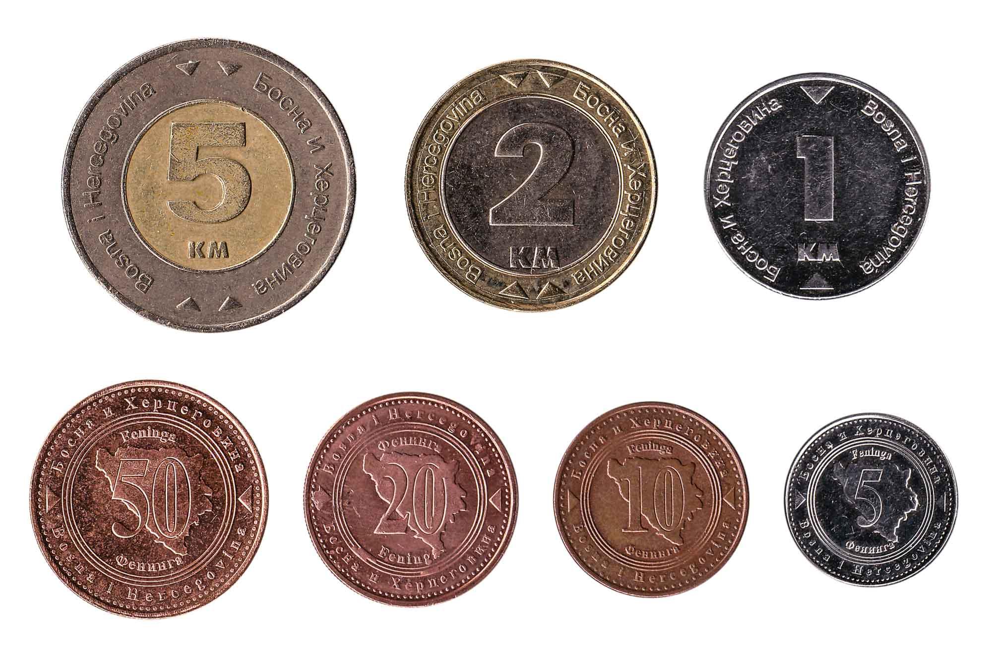 Bosnia and Herzegovina convertible mark coins