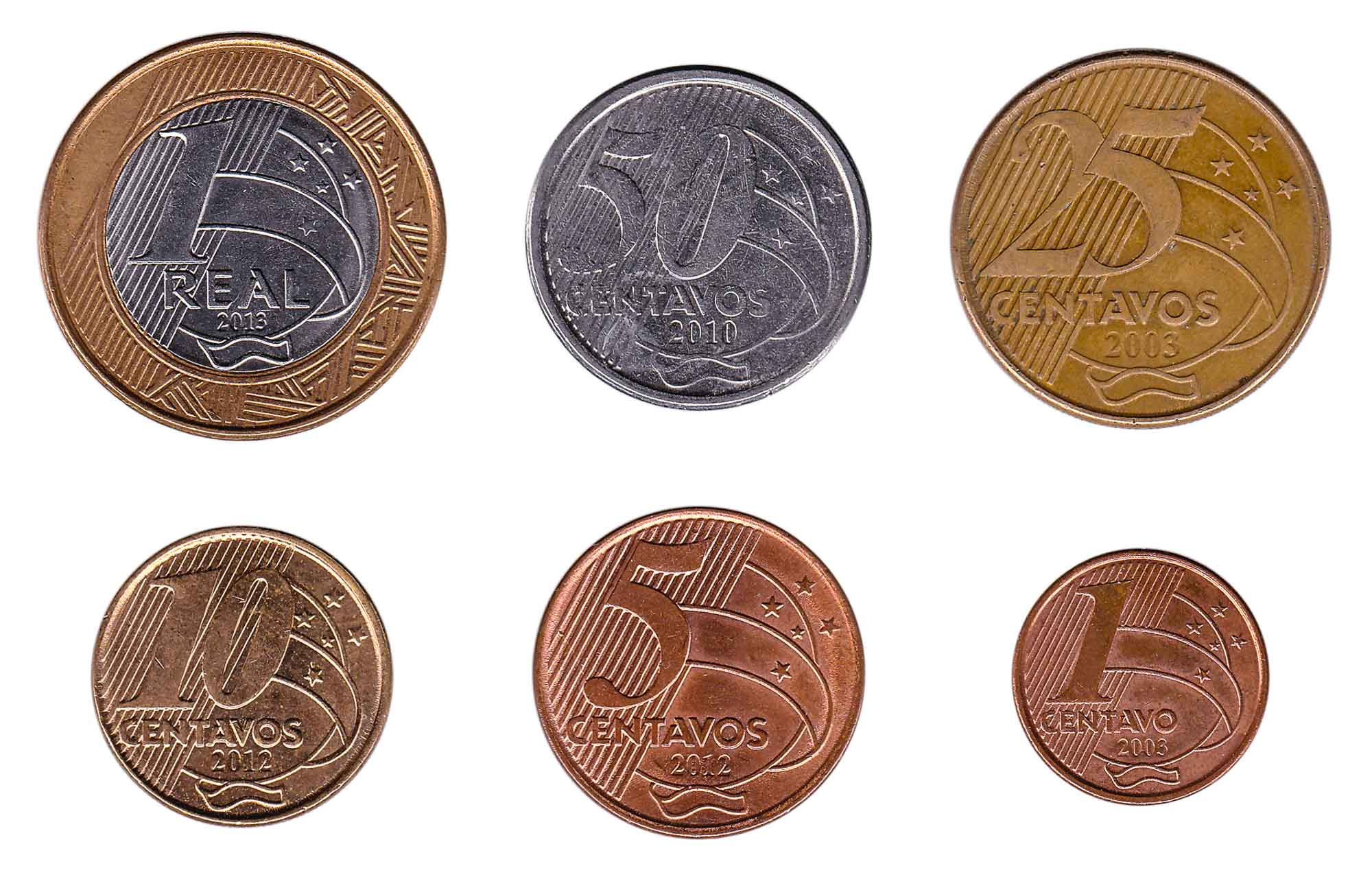Brazilian real coins