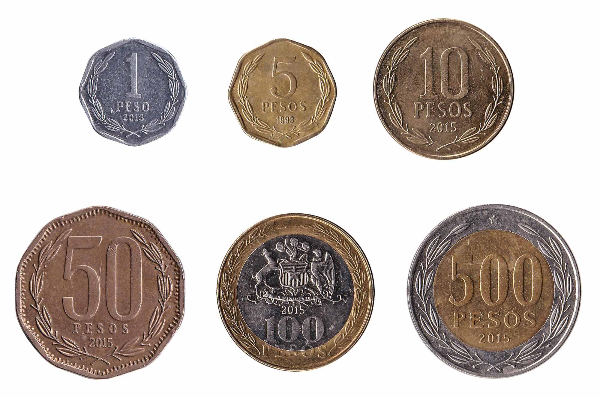 Chilean peso coins