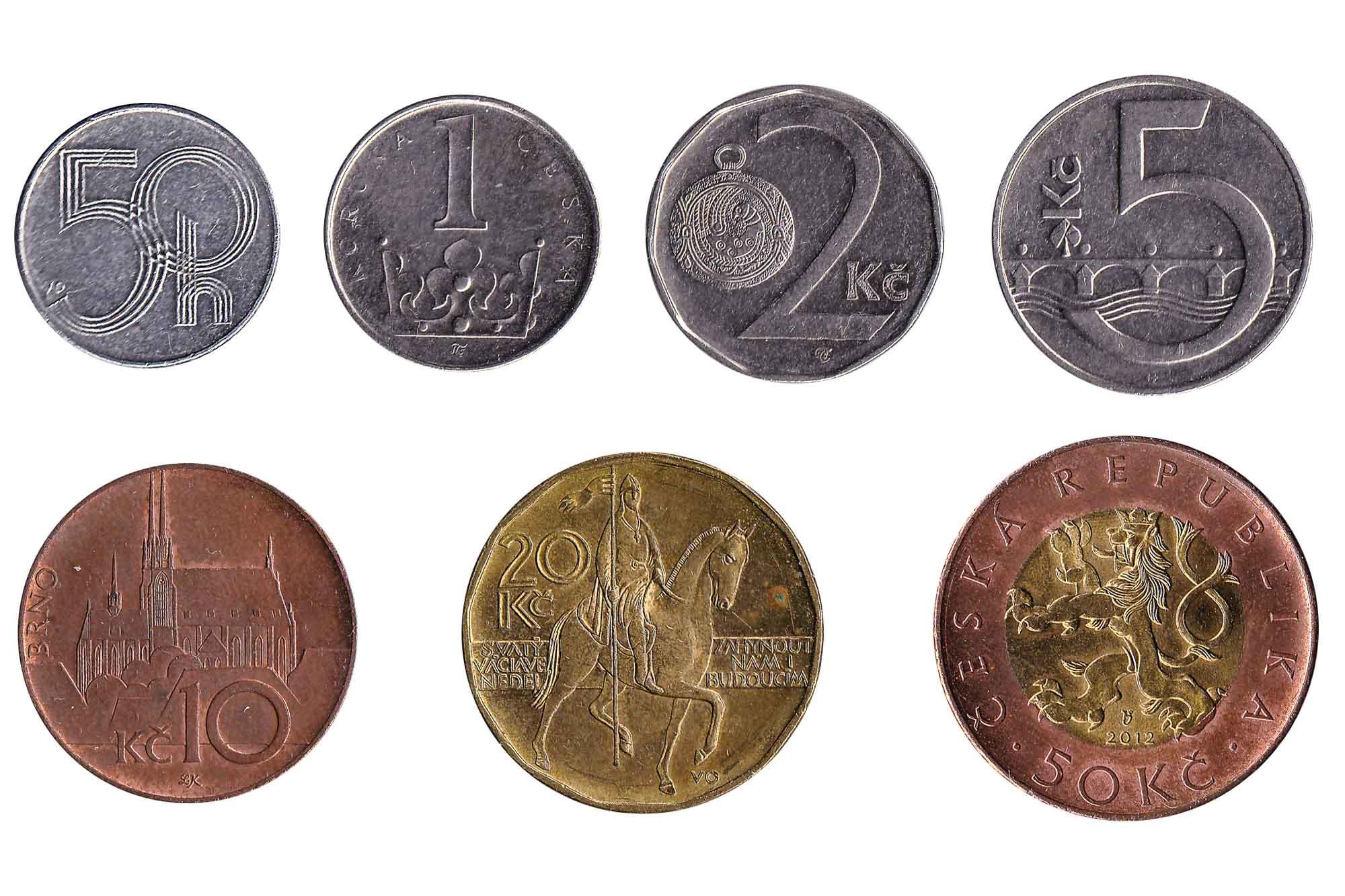 Czech koruna coins