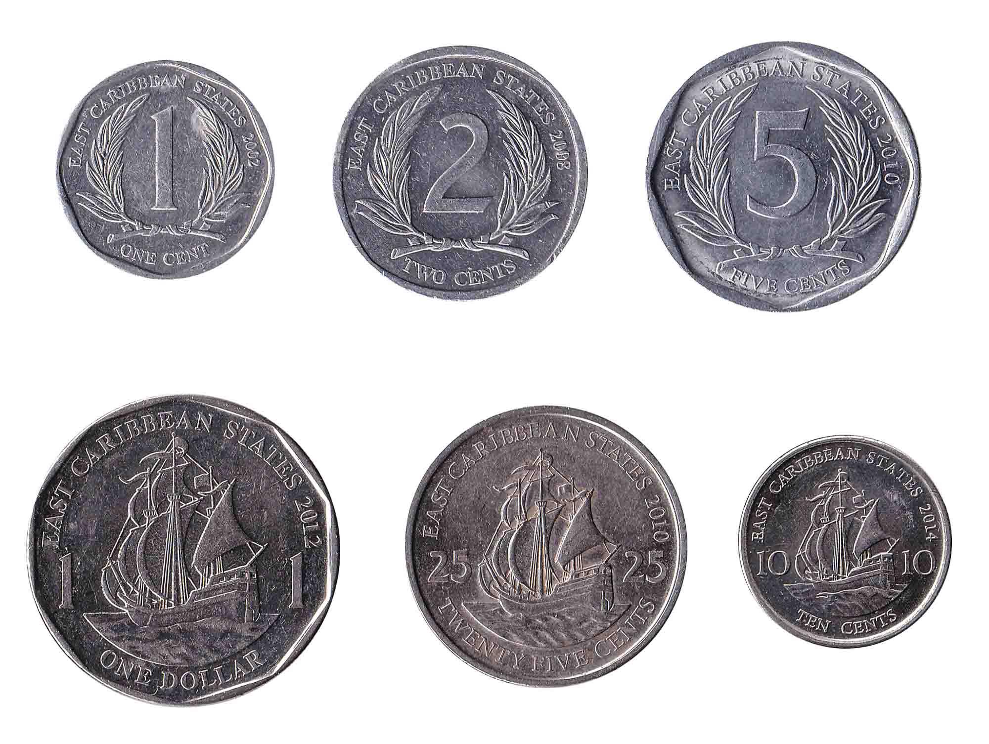 Eastern Caribbean dollar coins