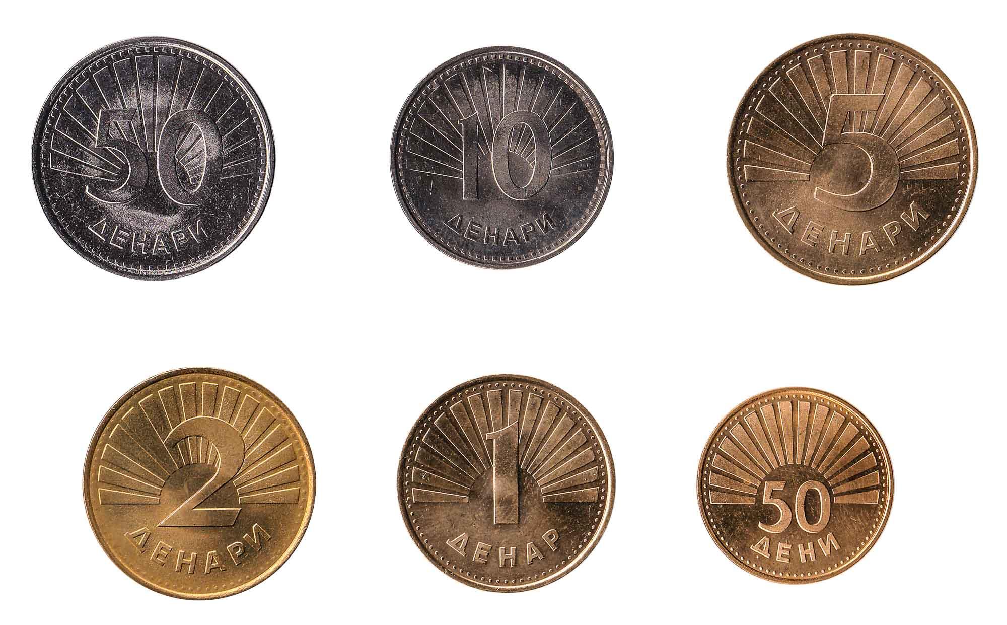 Macedonian denar coins