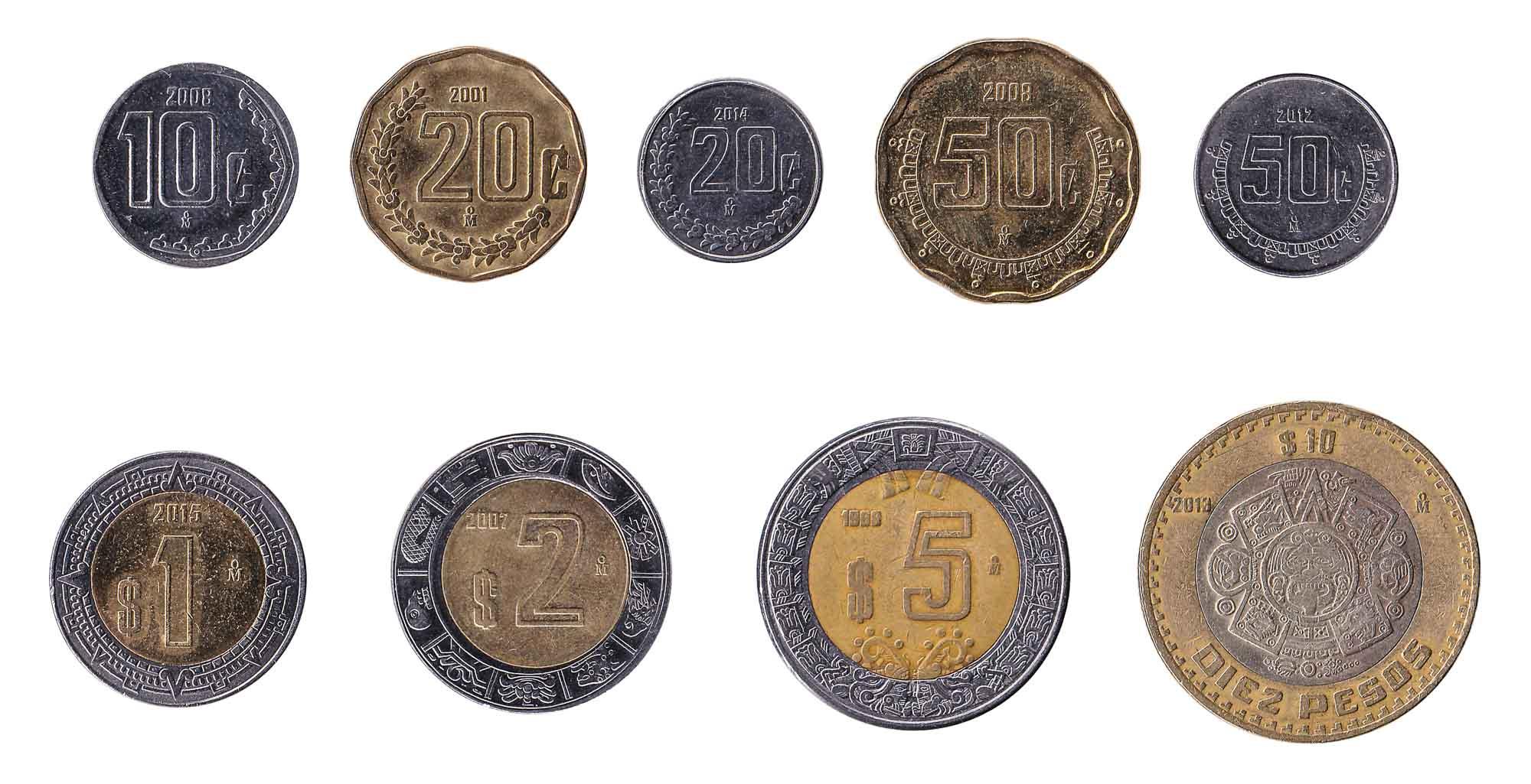 Mexican dollar coins