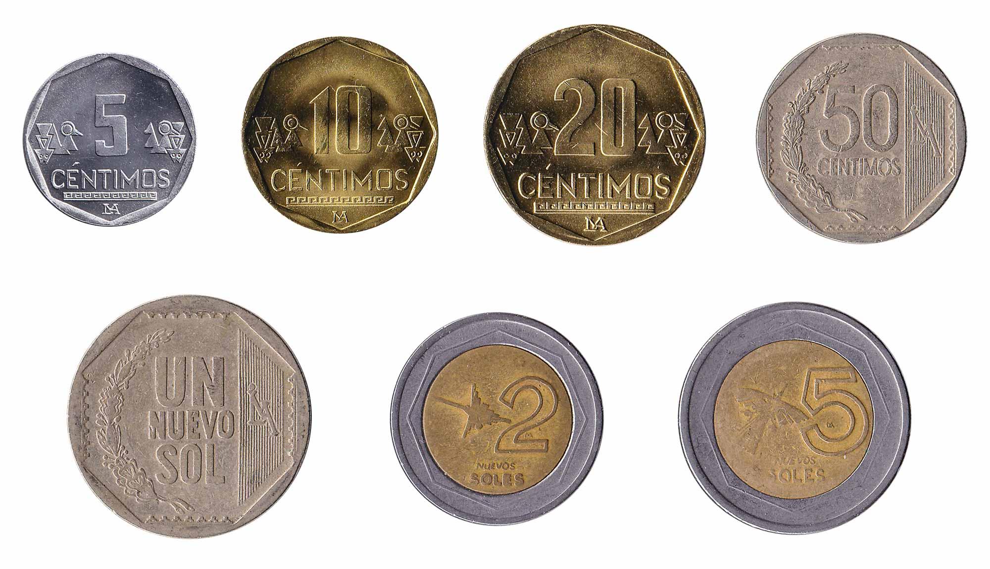 Peruvian sol coins