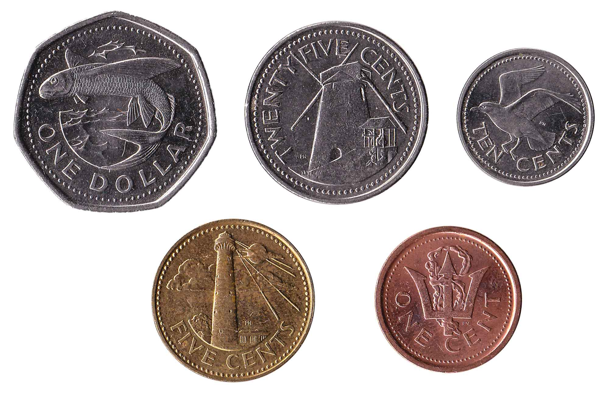 Bajan dollar coins