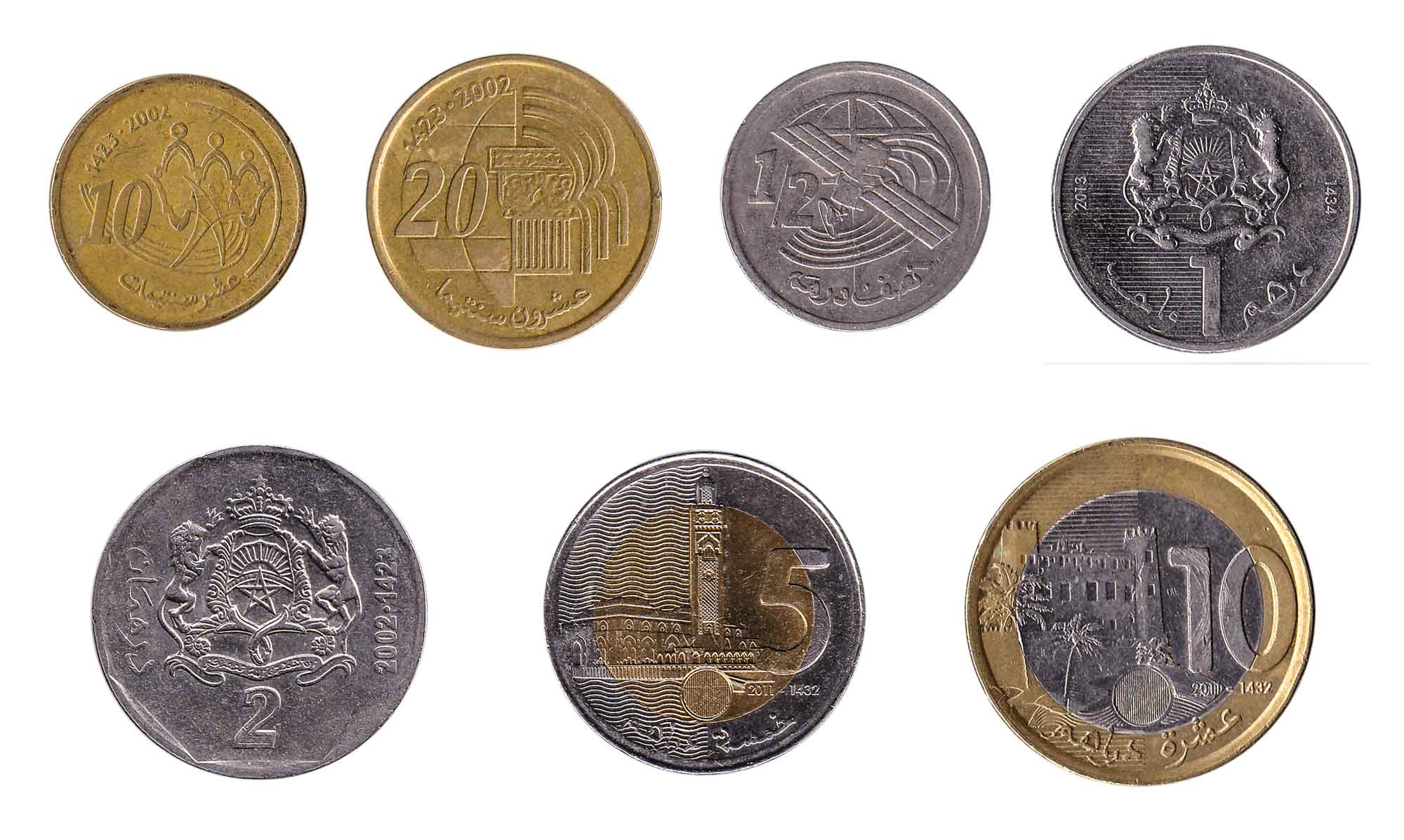 Moroccan dirham coins