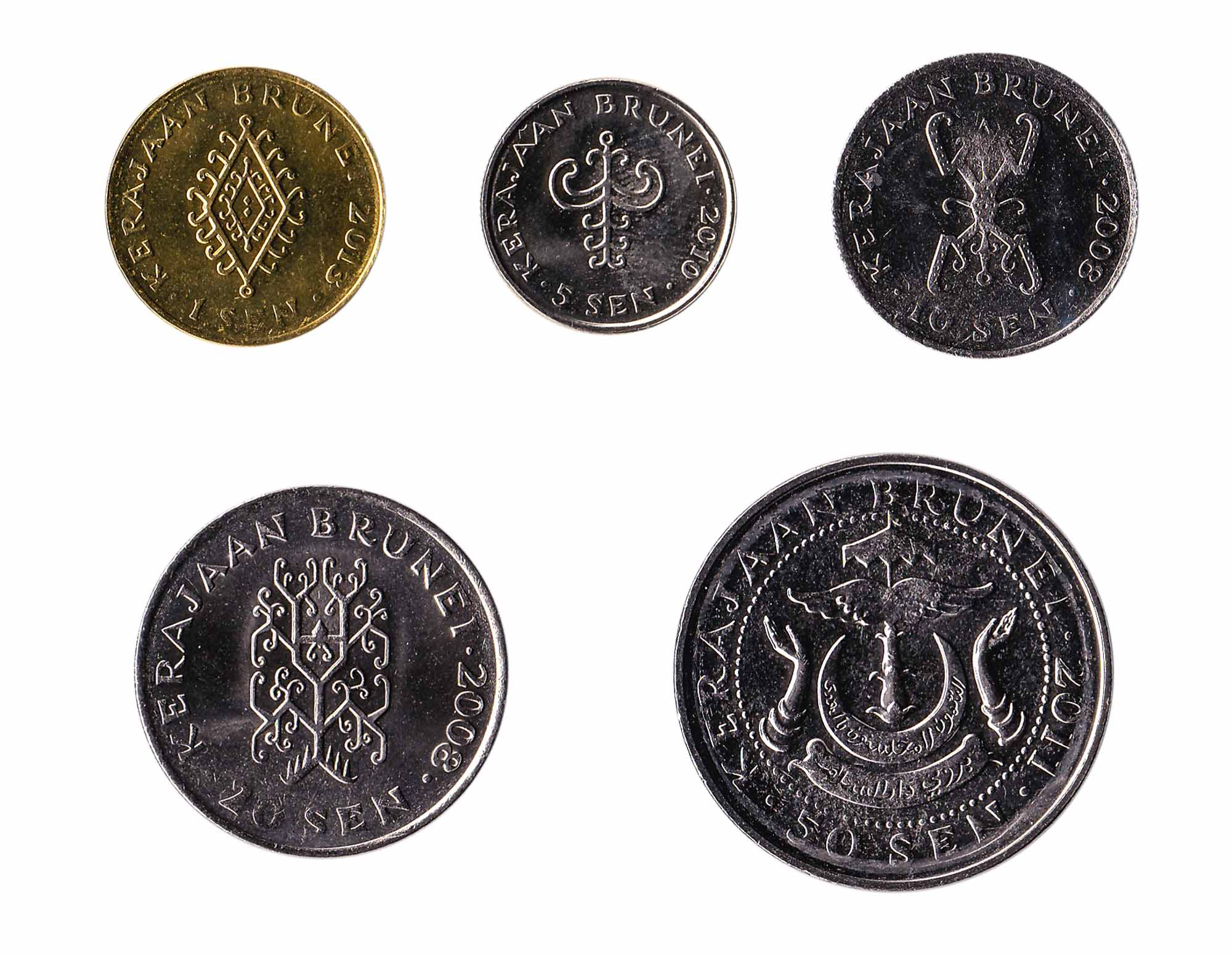 Brunei dollar coins